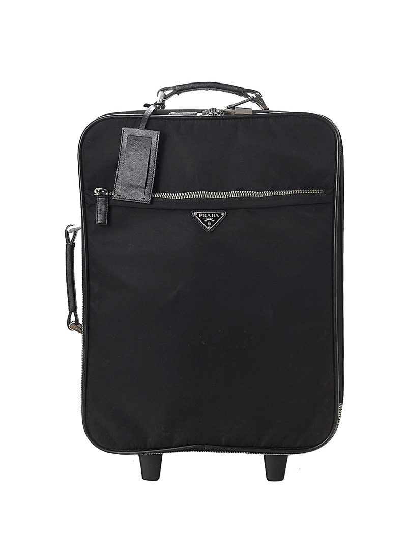 Edito Vintage Black Tessuto rolling suitcase  Prada for men