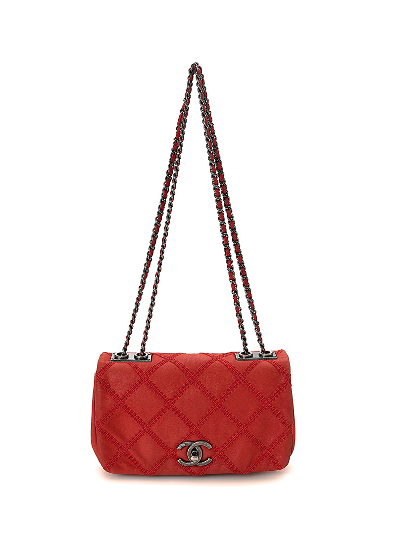 Edito Vintage Red CC suede chain flap bag  Chanel for women