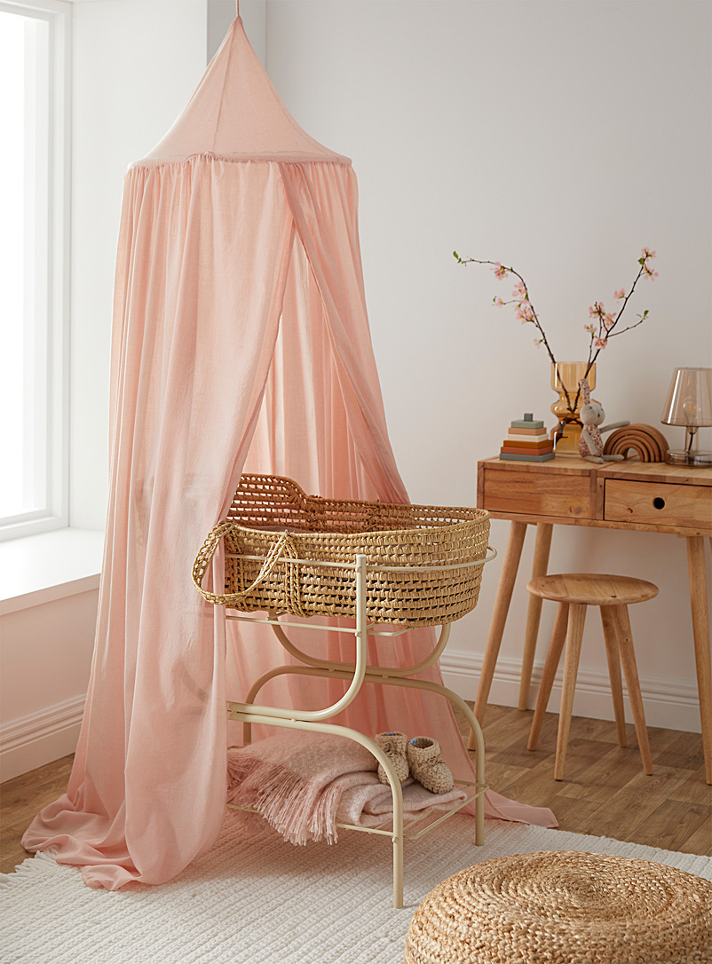 Simons Maison Pink Sheer bed canopy
