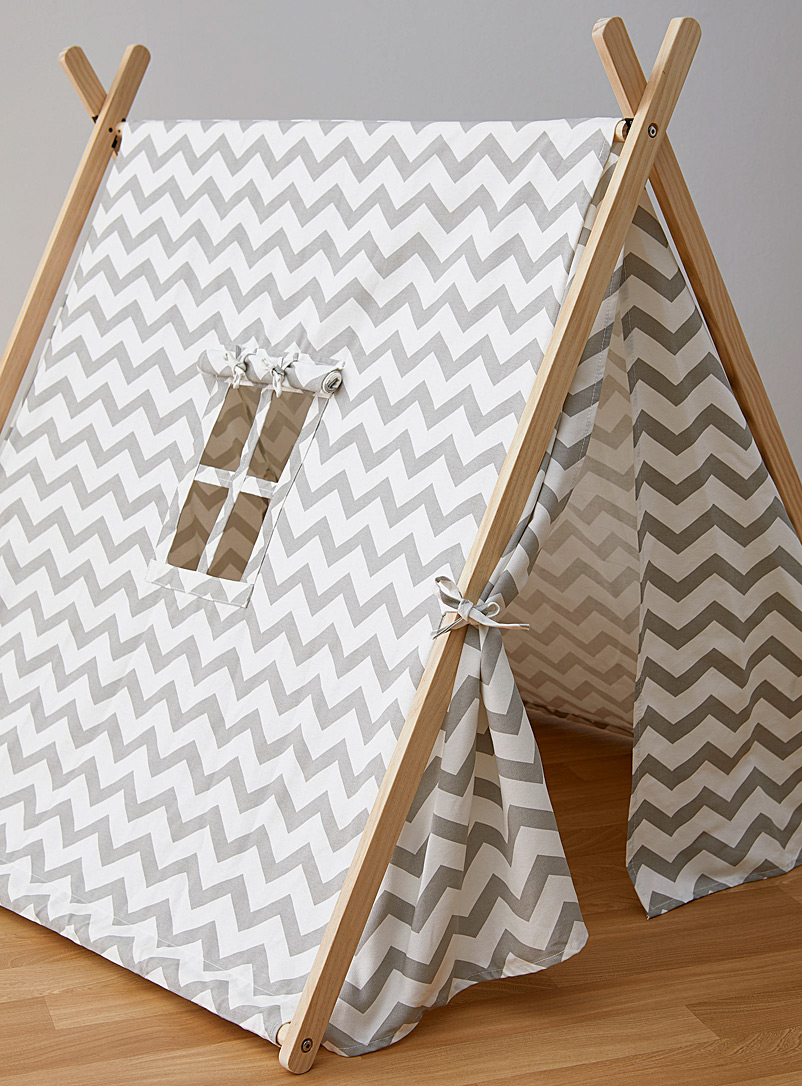 Simons Maison Patterned White Little campers' tent