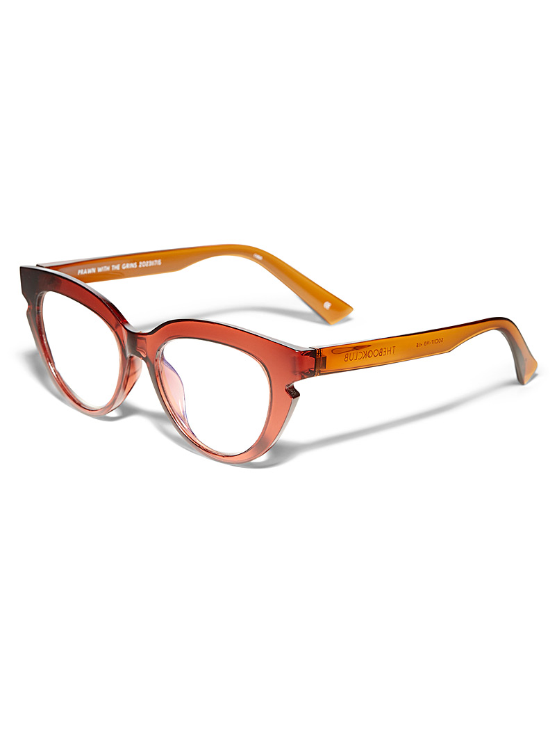The Book Club Black Prawn with the Grins cat-eye reading glasses for women