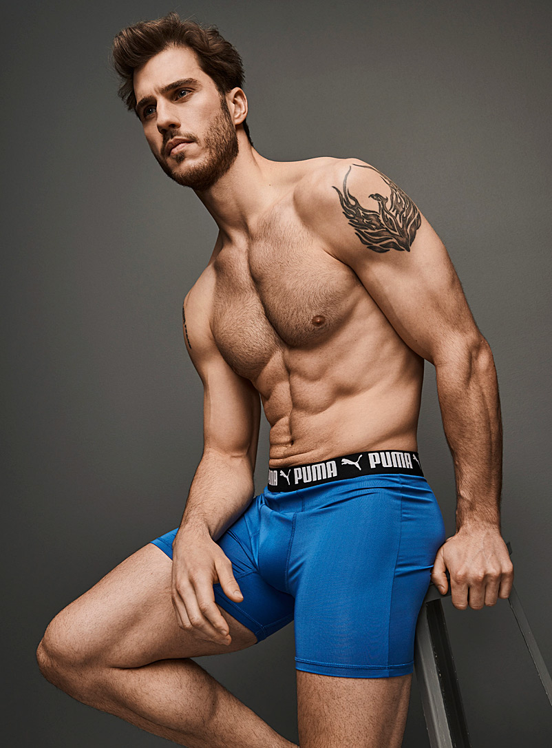 Sporty microfibre boxer brief