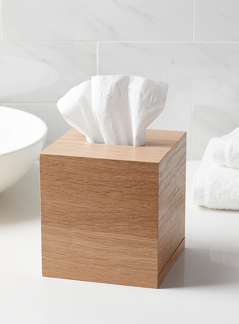Citta Design Assorted Natural wood cube tissue box