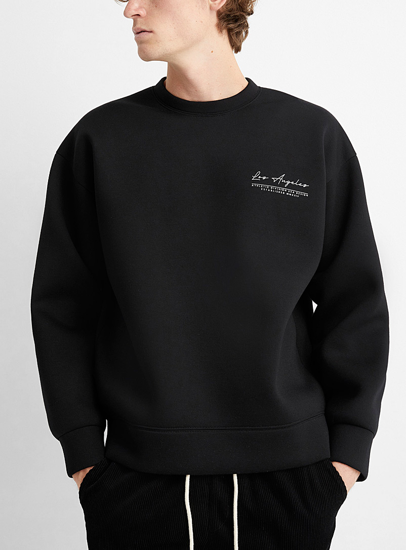 Le 31 Black Los Angeles sweatshirt for men