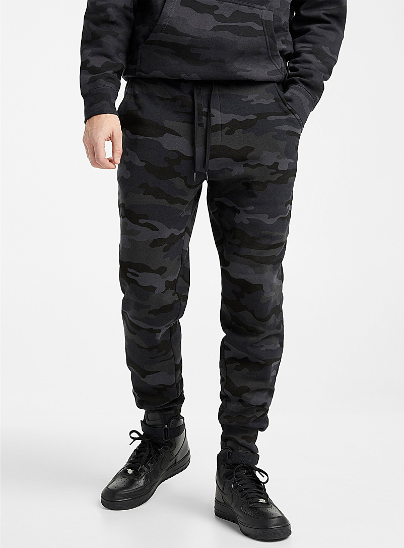 Djab Black Black camo sweatpant for men