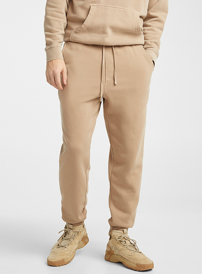 Djab Fawn Pigment-dyed fleece joggers for men