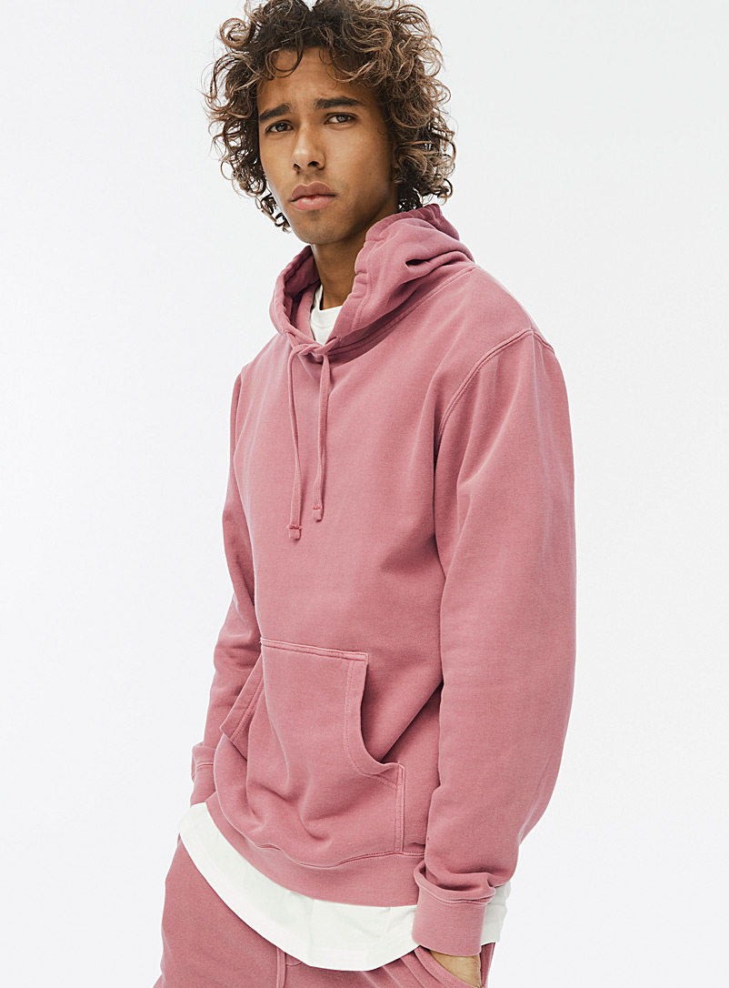 Djab Light Red Pigment-dyed hoodie for men