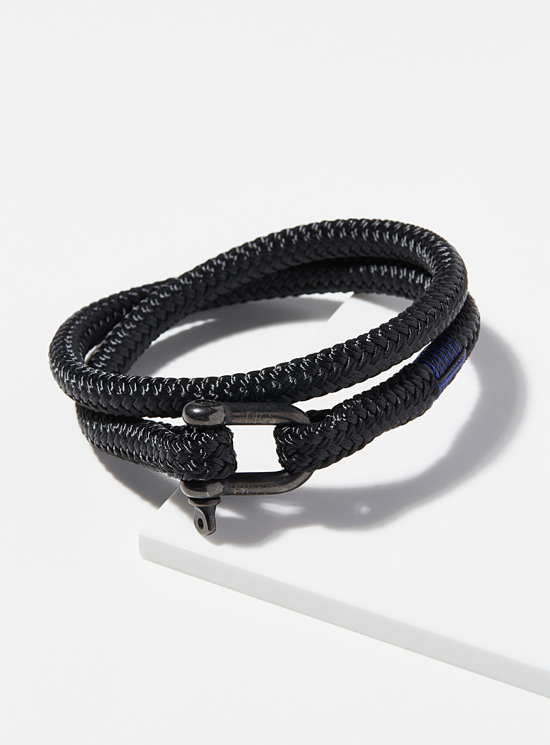 Pig & Hen Black Salty Steve bracelet for men