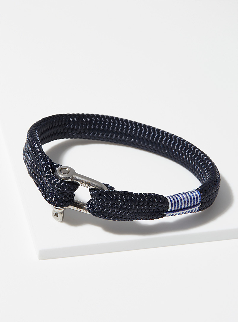 Pig & Hen Marine Blue Sharp Simon bracelet for men