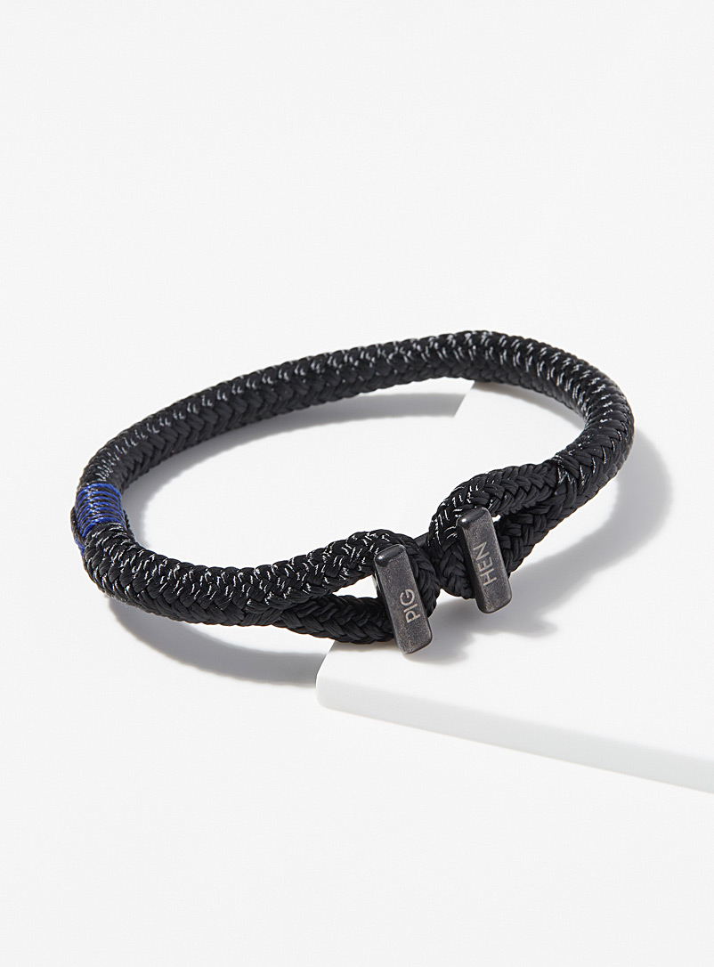 Pig & Hen Black Icy Ike bracelet for men