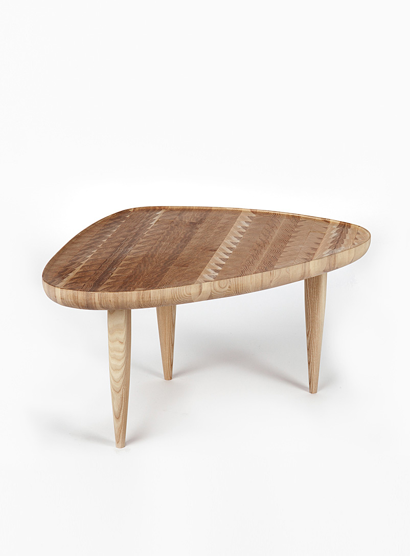 Nadine Hajjar Studio Ash Bout en bout ash wood accent table