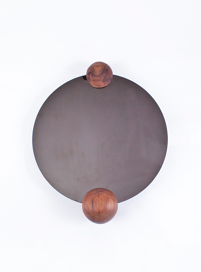 Nadine Hajjar Studio Walnut Walnut ball mirror