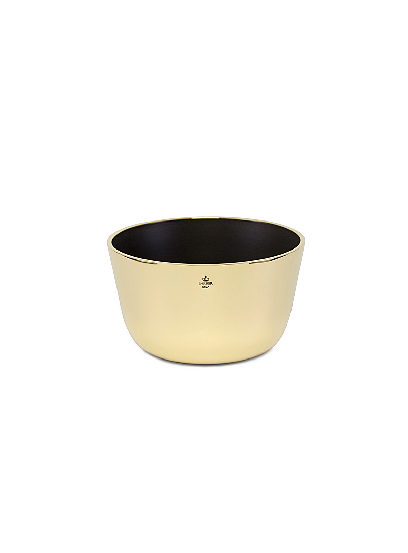 Skultuna Black Kolte small brass bowl for men