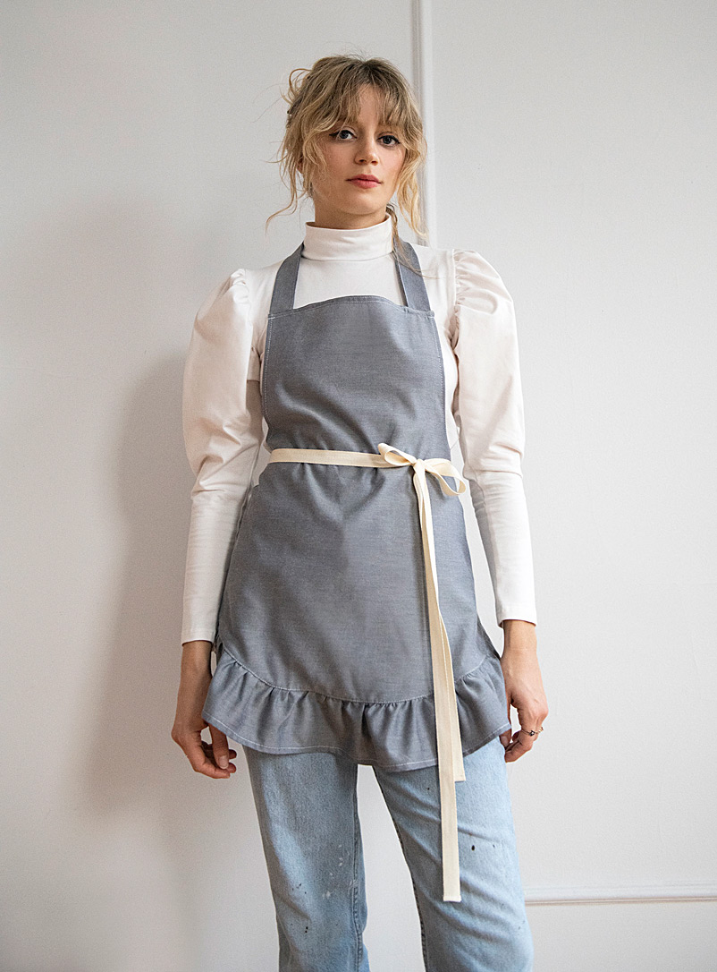 Rightful Owner Baby Blue Ruffle apron