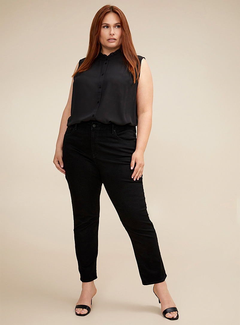 NYDJ Black Black Sheri skinny jean Plus size for women