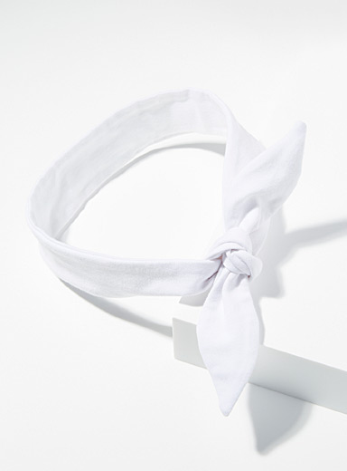 Organic cotton tie headband