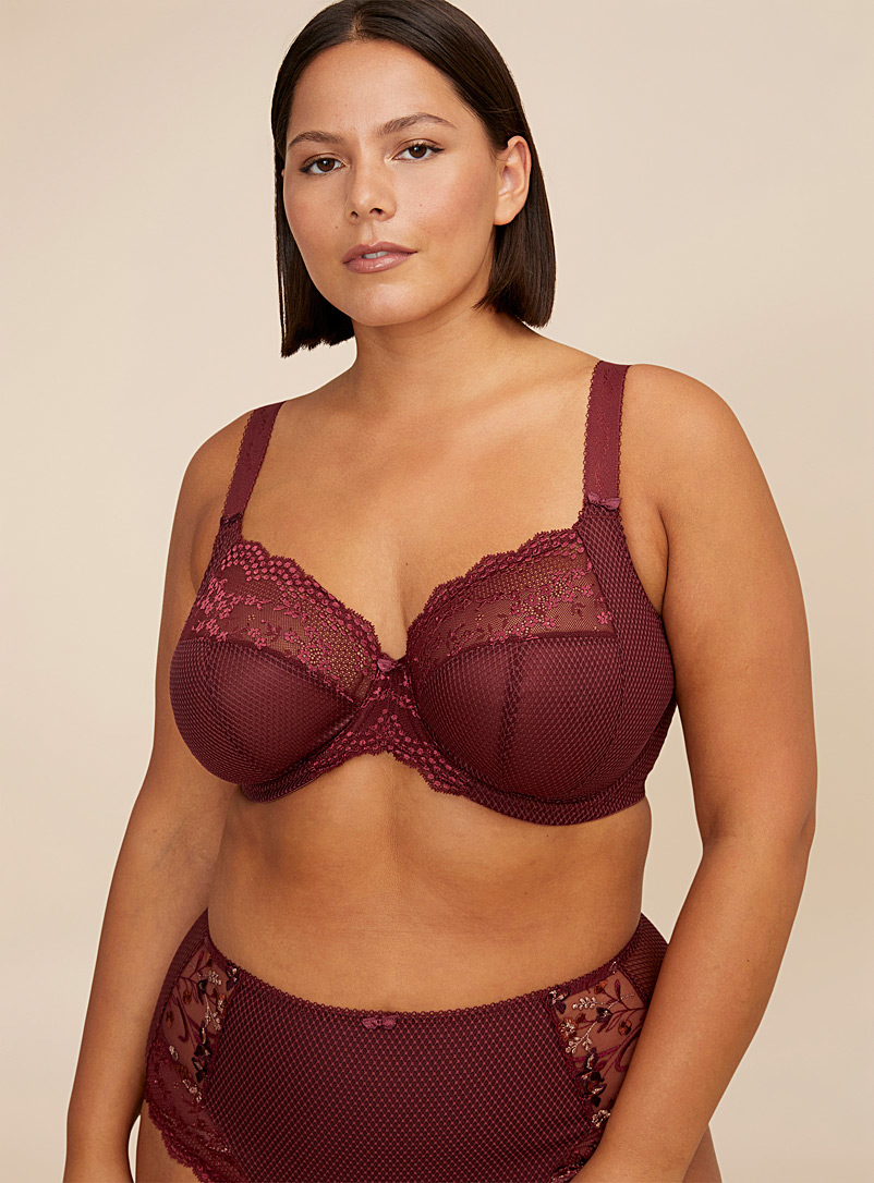 Elomi Ruby Red Charley soft full-coverage bra Plus size for women