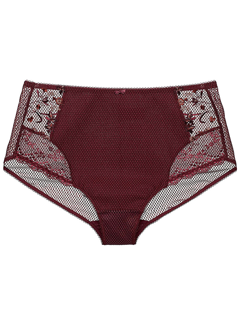 Elomi Ruby Red Charley hipster Plus size for women