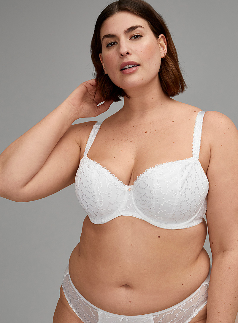 Fantasie White Ana full coverage bra Plus size for women