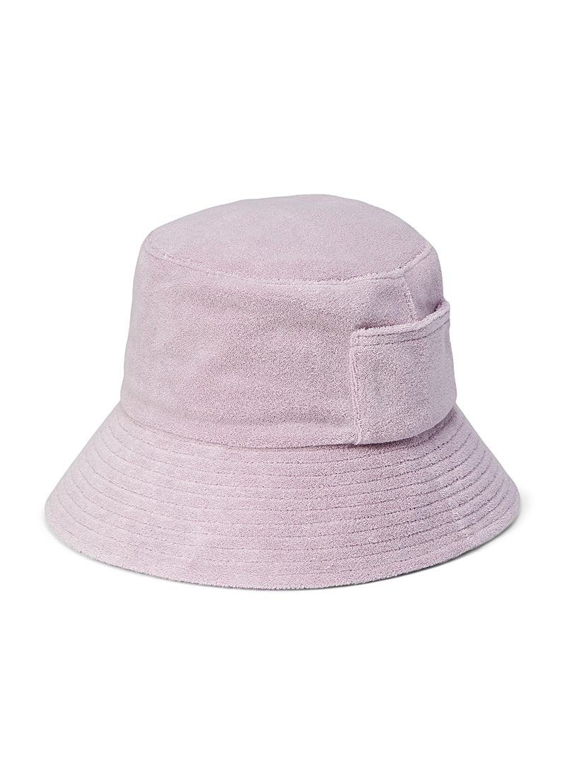 LACK OF COLOR Purple Wave terry bucket hat for women