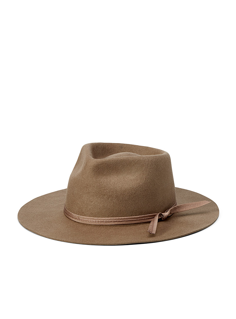 LACK OF COLOR Mossy Green Zulu wool fedora for women