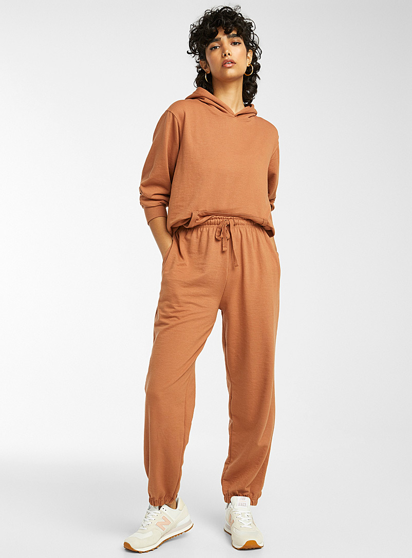 Twik Toast Terry-lined loose joggers for women