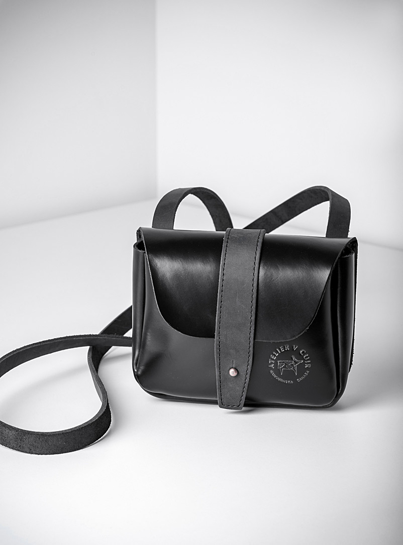 Atelier V Cuir Black Pluto small shoulder bag