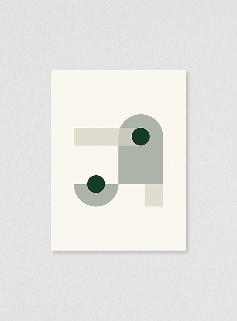 The Ba.sic Assorted Green geometric art print 3 sizes available