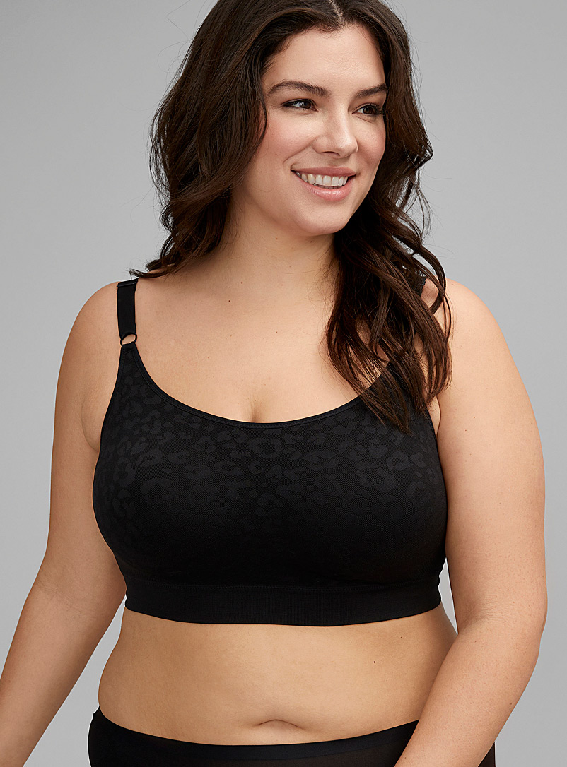 Easy Does It patterned wireless bra Plus size