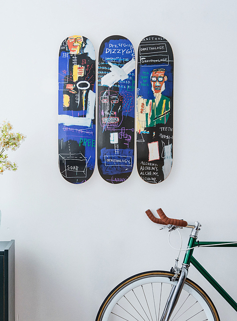 The Skateroom Assorted Jean-Michel Basquiat illustrated skateboards for men