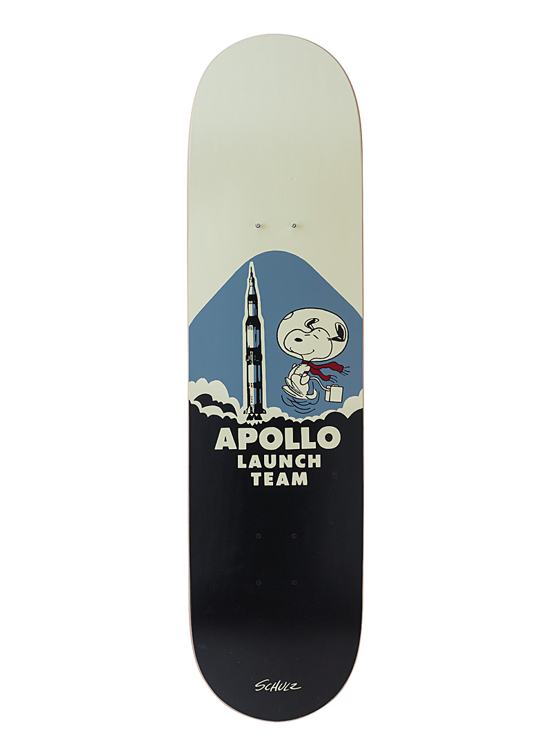 The Skateroom White Illustrated Peanuts skateboard for men