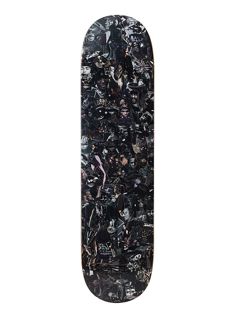 The Skateroom Black Vik Muniz illustrated skateboard for men