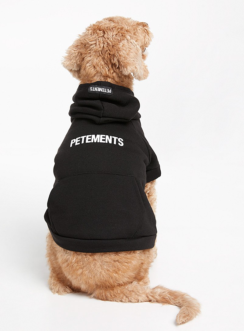 Petements Black Logo solid dog sweatshirt  Small/Medium for men