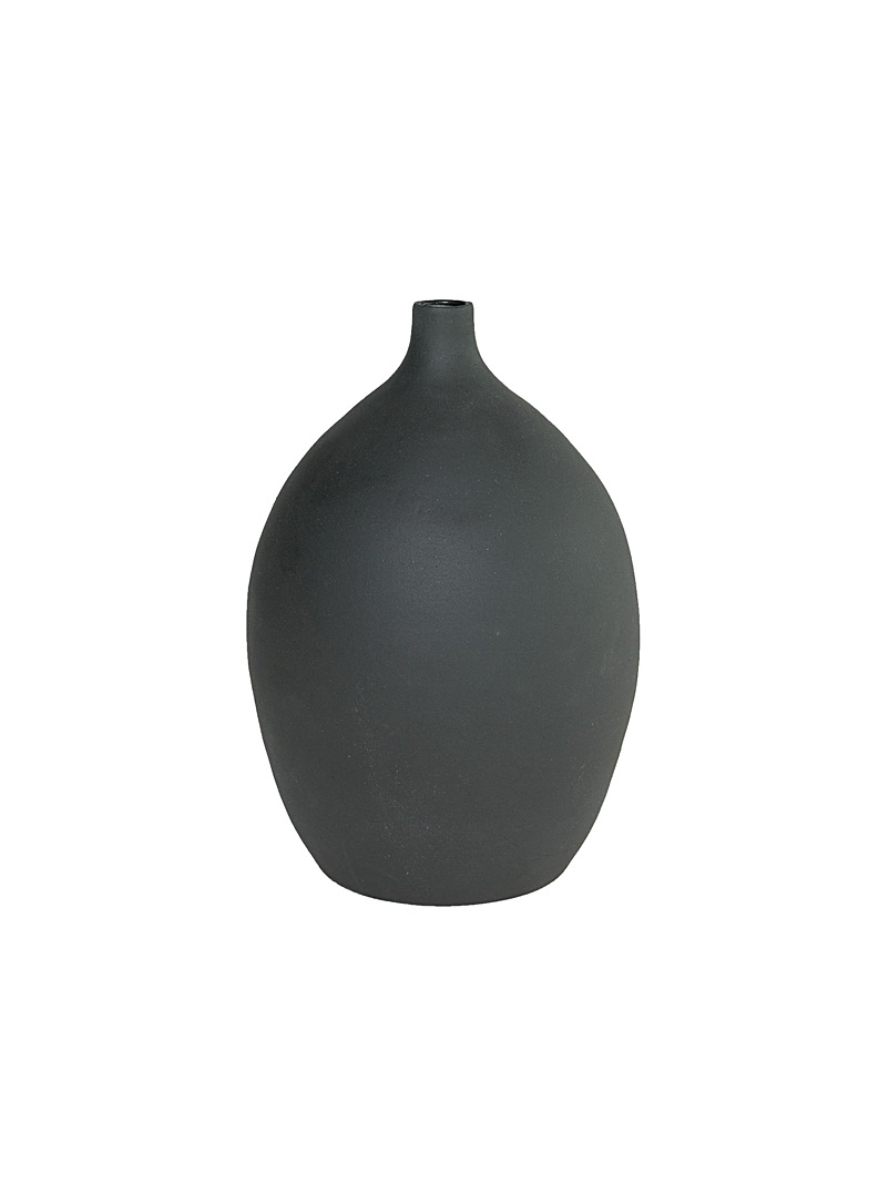Obakki Black Amphora vase  Large for women