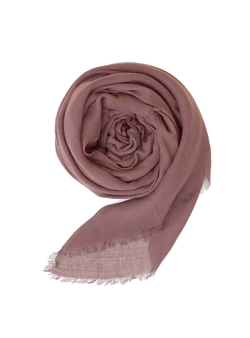 Obakki Light Crimson Solid humanitarian scarf for women