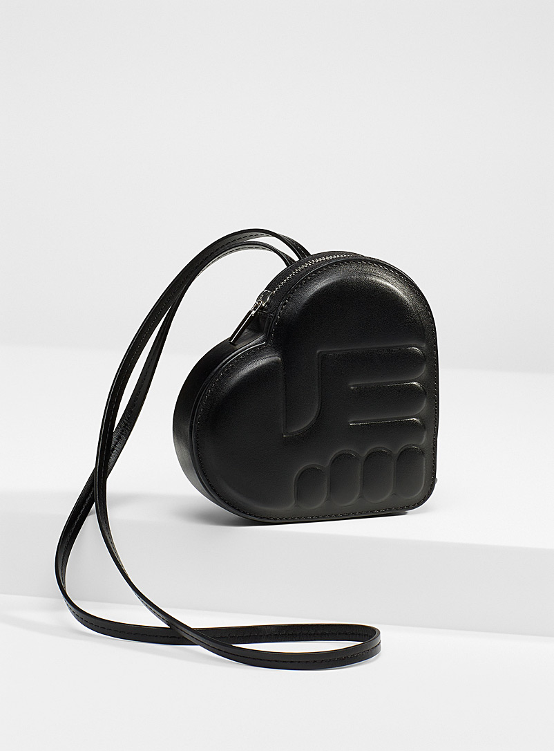 Ester Manas Black Small quilted logo coin purse for women