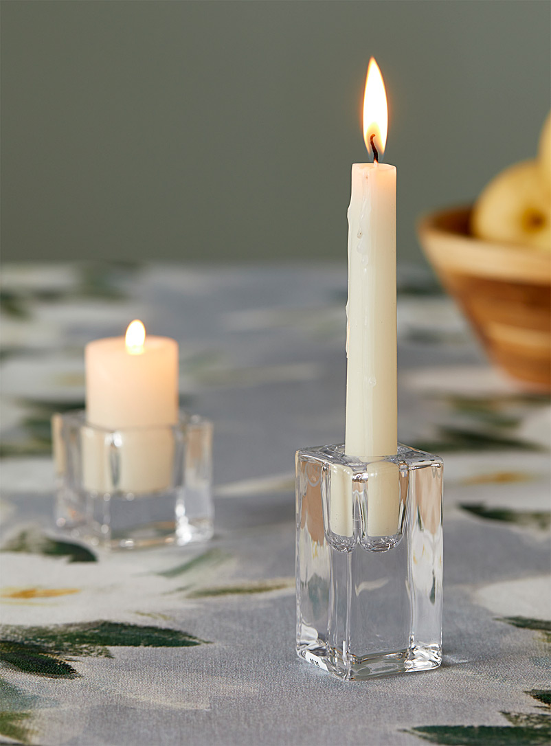 Simons Maison Assorted Sleek and tapered glass candlestick