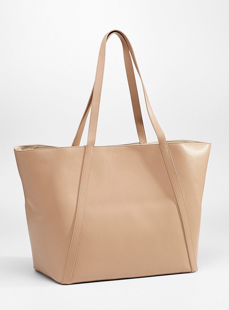 Simons Cream Beige XL recycled tote for women