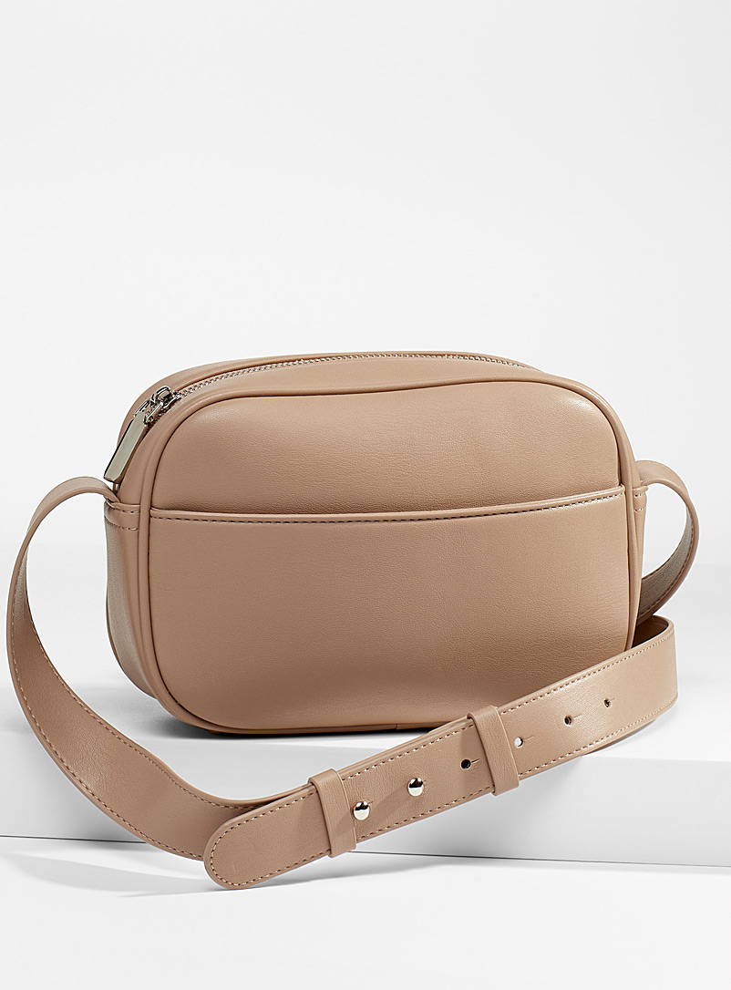 Simons Cream Beige Small recycled camera bag for women