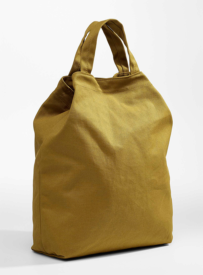 Baggu Lime Green Boxy canvas tote for women