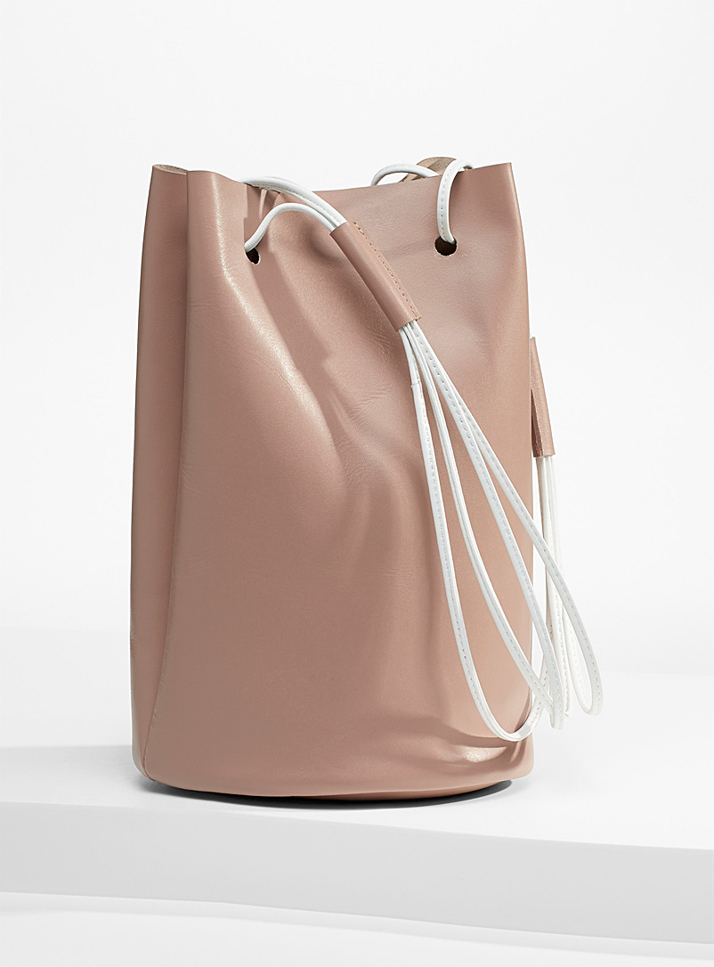Arron Light Brown Minimalist bucket bag for women