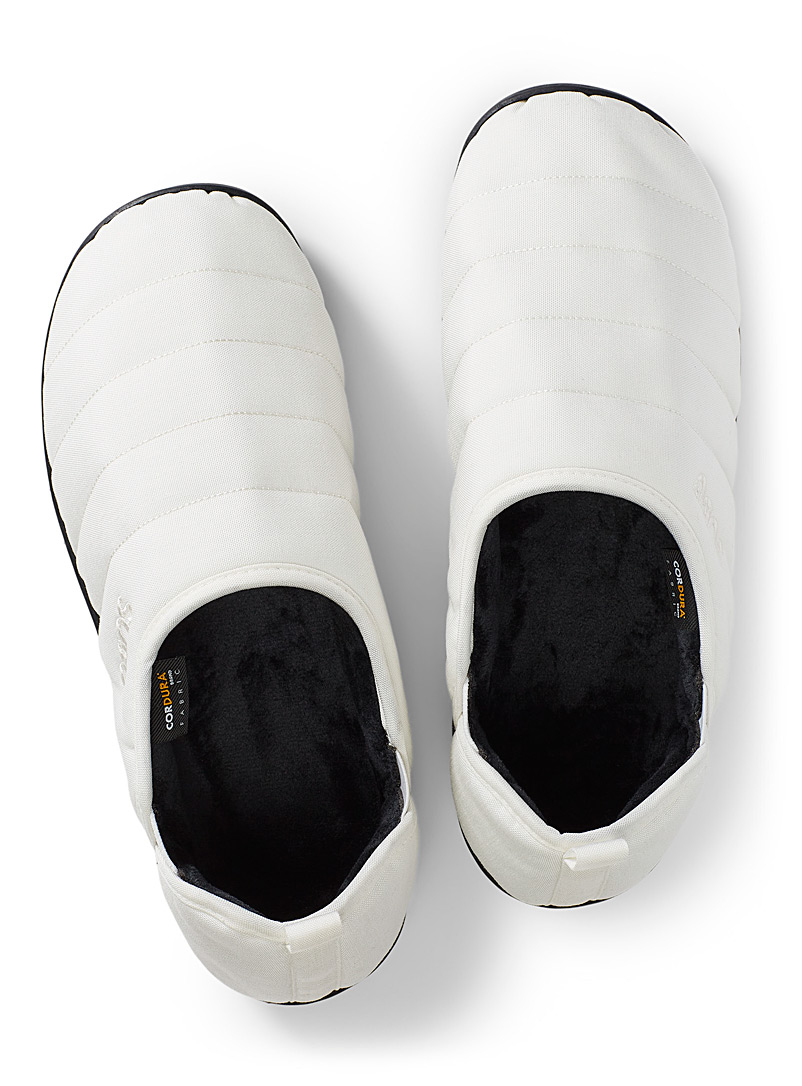 Subu White Quilted AMP slippers  Men for men