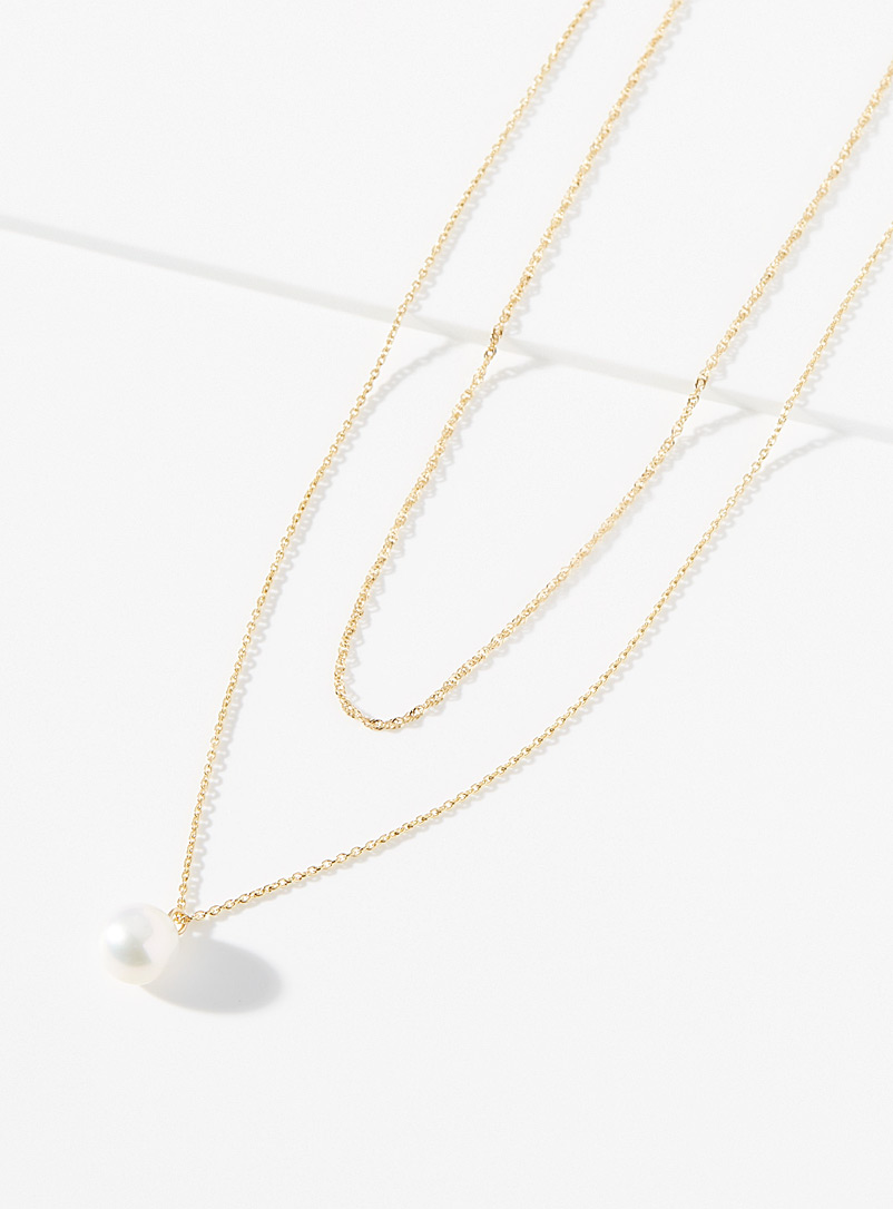 Poppy Finch Assorted Multi-chain pearl necklace for women
