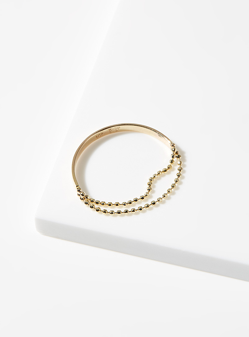 Poppy Finch Assorted Contrast bead-chains golden ring for women