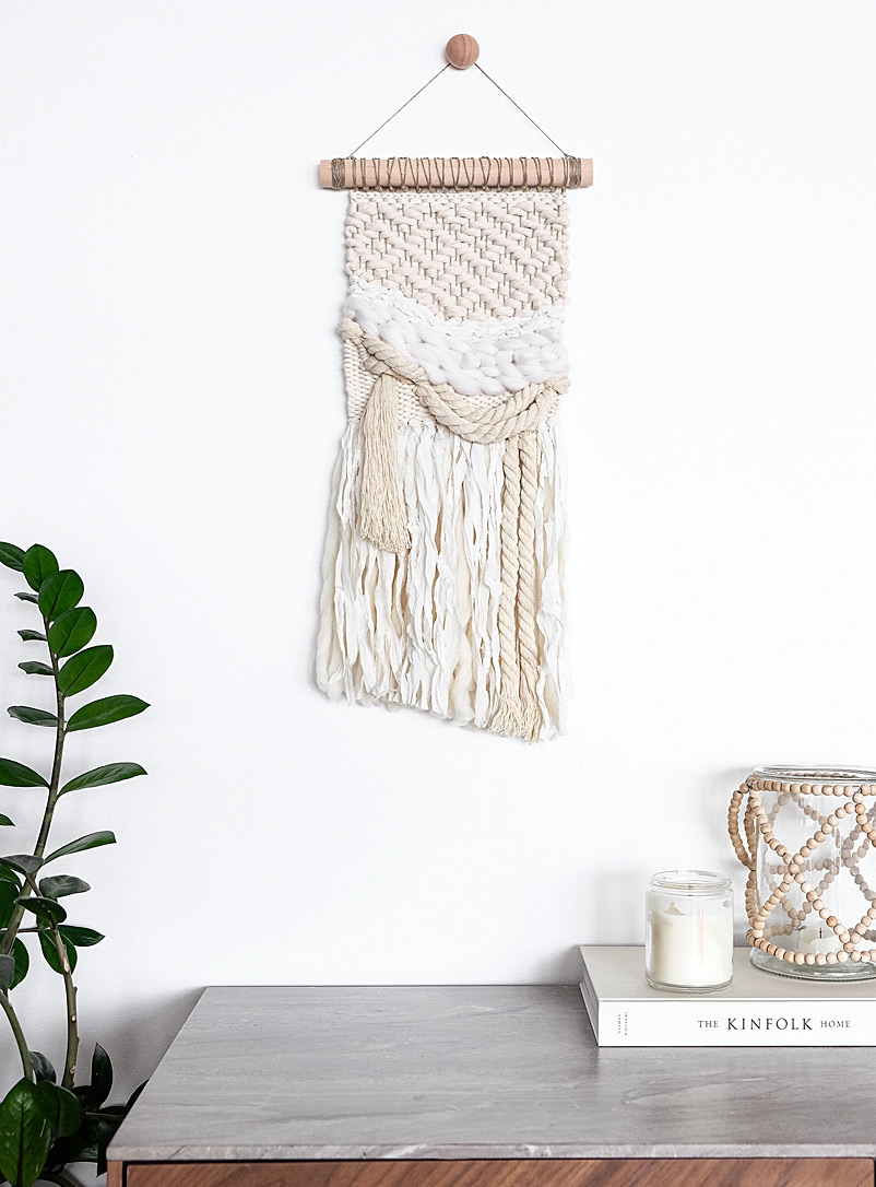 Riel Finishings Assorted Textured diamond woven wall hanging