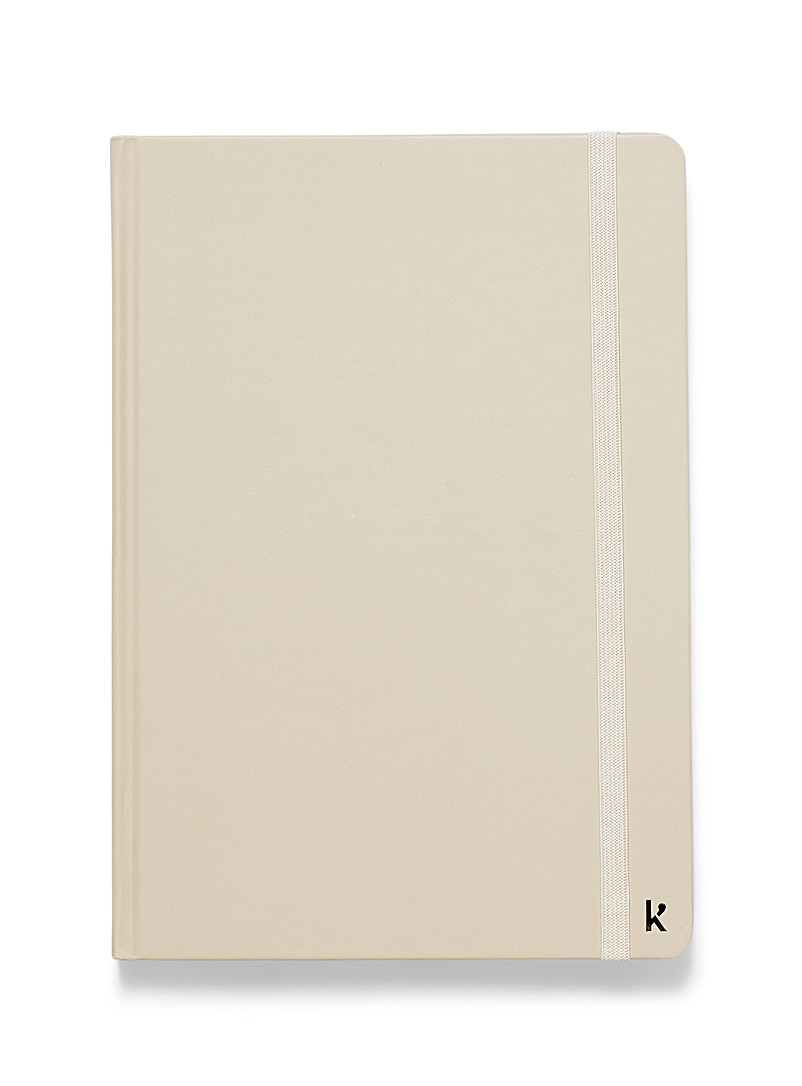 Karst Ivory White Recycled stone A5 notebook for women