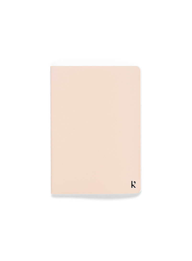 Karst Pink Recycled stone A6 notebook for women