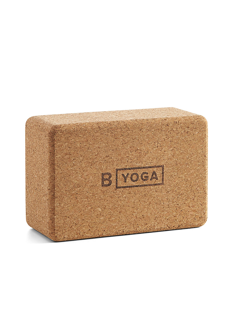 B Yoga Brown Cork support block for men