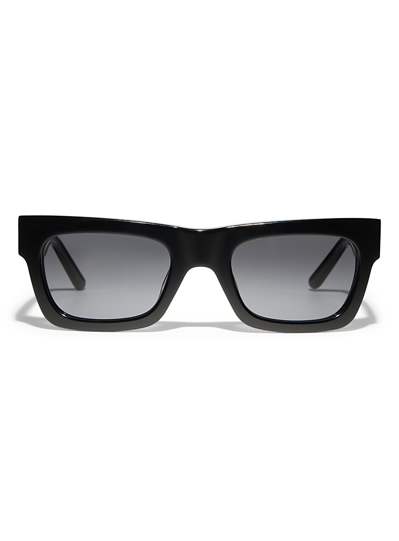 SUN BUDDIES Black Greta rectangular sunglasses for women