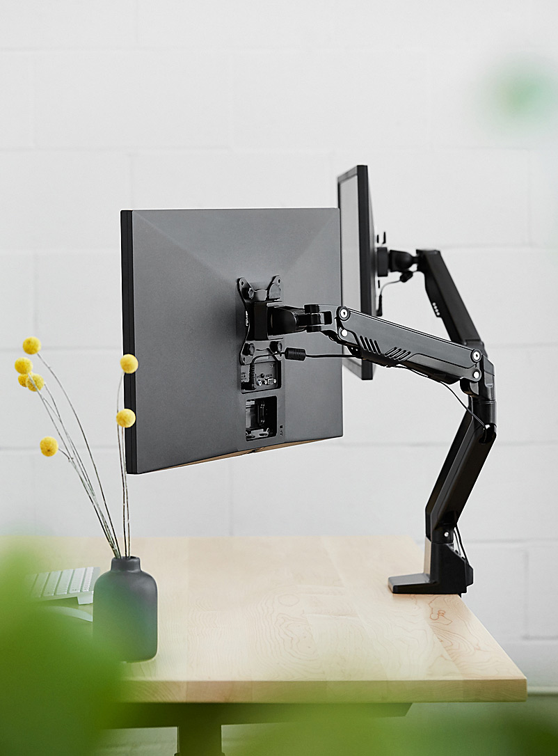 ergonofis Black Double swivel monitor arm